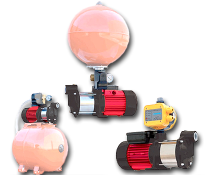 Equipos de presión con Electrobombas Multicelulares Horizontales-Bombas Ideal