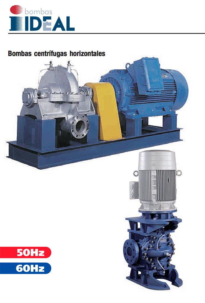 Catálogo Bombas Centrífugas horizontales Serie CP. Bombas Ideal