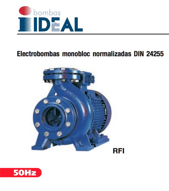 Catálogo electrobombas monobloc normalizadas Serie RFI. Bombas Ideal