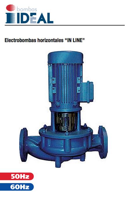"Catálogo Bombas Horizontales ""In Line"" Serie RNL. Bombas Ideal"
