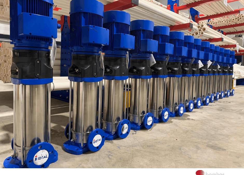 Bombas Ideal, Pedido de electrobombas verticales multicelulares para Tabosa, nuestro distribuidor en Málaga